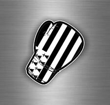 Sticker tuning boxing gloves jdm flag kick boxer decal car brittany bretagne r2