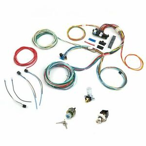 UNIVERSAL Extra long Wires 21 Circuit Wiring Harness For CHEVY Mopar FORD Hotro