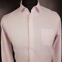 Ben Sherman Mens Casual Shirt MEDIUM Long Sleeve Pink Regular Fit  Cotton