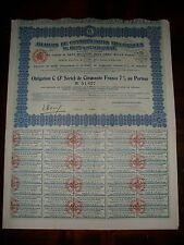 ACTION / OBLIGATION DE 50 FRANCS ATELIERS DE CONSTRUCTION ELECTRIQUES LYON 1927