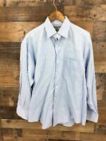 Johnston & Murphy Men's Easy Care Long Sleeve Button Up Dress Shirt Sz L