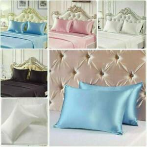 Real Soft Mulberry Silk Pillowcase 6 colors Bedding Pillow Case Accessories New