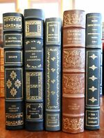 Science Religion Philosophy Darwin Bacon Descartes lot x 5 classic leather books