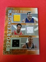 SHAQUILLE O'NEAL SHAQ SCOTTIE PIPPEN DAVID ROBINSON GAME USED JERSEY CARD HOF