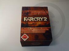 !!! XBOX 360 SPIEL Far Cry 2 in Holzkiste OHNE BUCH USK18 gebraucht aber GUT !!!