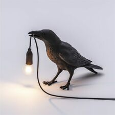 Seletti Bird Table Lamps Bedroom Wall Sconce Light Fixtures Resin Crow Desk Lamp