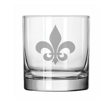 11oz Rocks Whiskey Highball Glass Fleur-de-lis