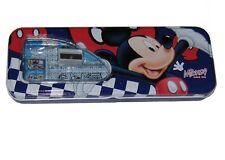 Rare Disney Animation MICKEY MOUSE Tin  Pencil Box + School Set Free Ship