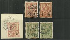 POLAND- 5 UNLISTED ( USED ) WARSAW LOCALS ( ? )1 W/ DIFFERENT SURCHARGED NUMERAL
