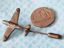 Aeroplane badge Pewter plane cravat hat lapel stick pin St Justin SJC