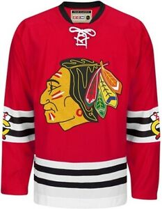 New Chicago Blackhawks CCM Throwback Team Classic Premier Edge Red Jersey