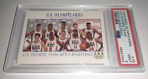 1992 Impel Olympicards #18 Basketball PSA 9 Mint Dream Team USA Pop 98