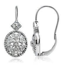 Leverback Drop/Dangle I3 Fine Diamond Earrings