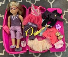 Huge Lot American Girl Doll Outfits (isabelle) Carrier Glasses Shoes & More EUC