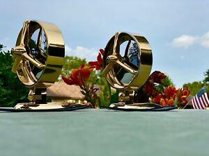 "( 2 ) 1950's 1960's  "" YANKEE PACESETTER 24 KARAT GOLD "" Fender Or Body Mirrors"