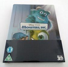 Disney Pixar Monsters, Inc. Blu-ray 3D Movie Zavvi UK Limited Embossed SteelBook
