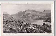 Caernarvonshire; Snowdon & Llyn Padarn RP PPC, 1956 PMK, By Photochrom