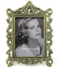 Bilderrahmen Fotorahmen Fotogalerie Metall Antik Portrait Barock-Rahmen 7x9