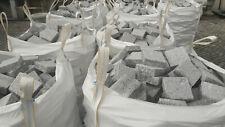 Pavés en granit gris neuf - 10x10x4 cm