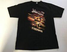 Judas Priest Firepower Tour T Shirt Tee Shirt Top Size M Black 100% Cotton