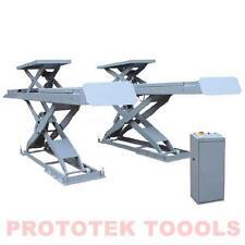 ponte sollevatore a forbice da 4 Ton con ulteriore rampa di sollevamento 380 Vol