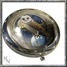 New Lisa Parker Owl Mirror Compact in Gift Box SPELLKEEPER