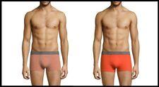 NEUF Lot 2 Boxers HOM XS/2 orange gris chiné caleçon slip sous vêtement pack