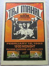 Taj Mahal Arminski Orange Variant Screen Print Concert Poster
