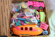 Polly Pocket LG FR MB GRAB BOX LOT Dolls, Clothing, ACCESSORIES LOT over 100pcs
