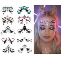 Adhesive Face Gems Crystal Jewels Festival Party Body Glitter Stickers Tat Nice