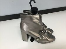 Primark Womens Shoes BRAND NEW Ankle Boots Size Uk 6 Eu39 Gun Metal Silver Pearl