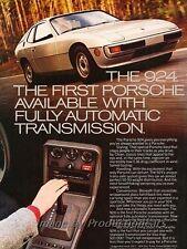 1977 Porsche 924 - Auto - Original Advertisement Print Art Car Ad J815