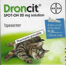 VERMIFUGE CHAT (2,5 - 5 KG) - boite 4 Pipettes - tapewormer