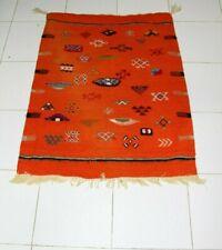 Vintage Moroccan Rug Area Authentic Carpet Handmade Berber Tribal Azilal Wool