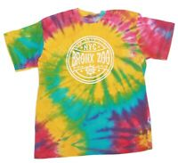 BRONX ZOO New York City Rainbow Tie Dye Men's T-Shirt NYC Tee size L/XL - 396