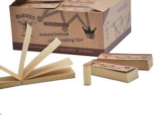 HORNET 50 Booklet Brown Natural Perforated Paper Filter Tip Rolling Tips