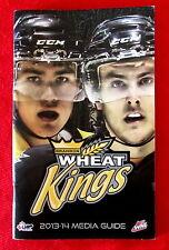 Brandon Wheat Kings 2013-14 WHL Media Guide Cover: Eric Roy Ryan Pulock lsc5