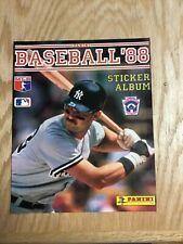 1988 Panini Baseball Sticker Album Cover Page Feat. Don Mattingly
