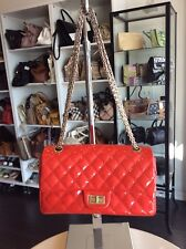 Chanel Tomato Red 2.55 Two Parts Flap Handbag Purse Shop Our Store In LA