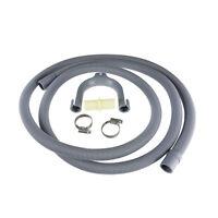Universal 2.5m Waste Drain Hose Extension Kit For Washing Machine & Dishwashers