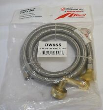 Jason Industrial Dishwasher Supply Line Dw6Ss 6' D/W Ss Line w/ Fht Fit New