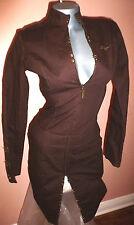 FUBU The Collection Denim Brown long Sleeve Dress  3/4