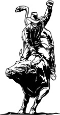 Bull Riding Decal WRA #11 Western Rodeo Truck Window Stickers