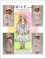 """""""1904 Coat and Hat"""" Fashion Pattern for Dianna Effner's 13"""" Little Darlings"""