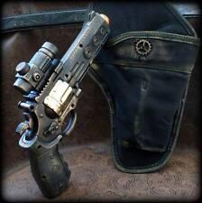Steampunk cyber gothic GUN+HOLSTER+BELT revolver pistol Victorian laser Toy MC04