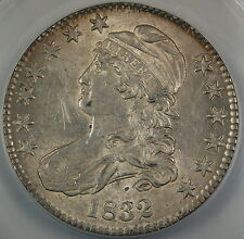 1832 Bust Silver Half Dollar O-111 ANACS AU-58 Details Scratched