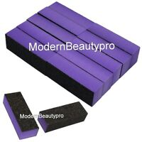10 PCS 3-Way Purple Black Buffer Buffing Sanding Block Files Grit Nail Art Tool