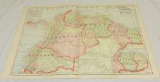 "1904 Cram Color Map/Columbia, Venezuela, Ecuador, Guiana/Large 14x22"""