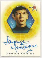 Star Trek 35th Anniversary TOS Autograph Card A6 Lawrence Montaigne Stonn