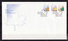 d/ Canada  enveloppe   série courant  feuille   1998